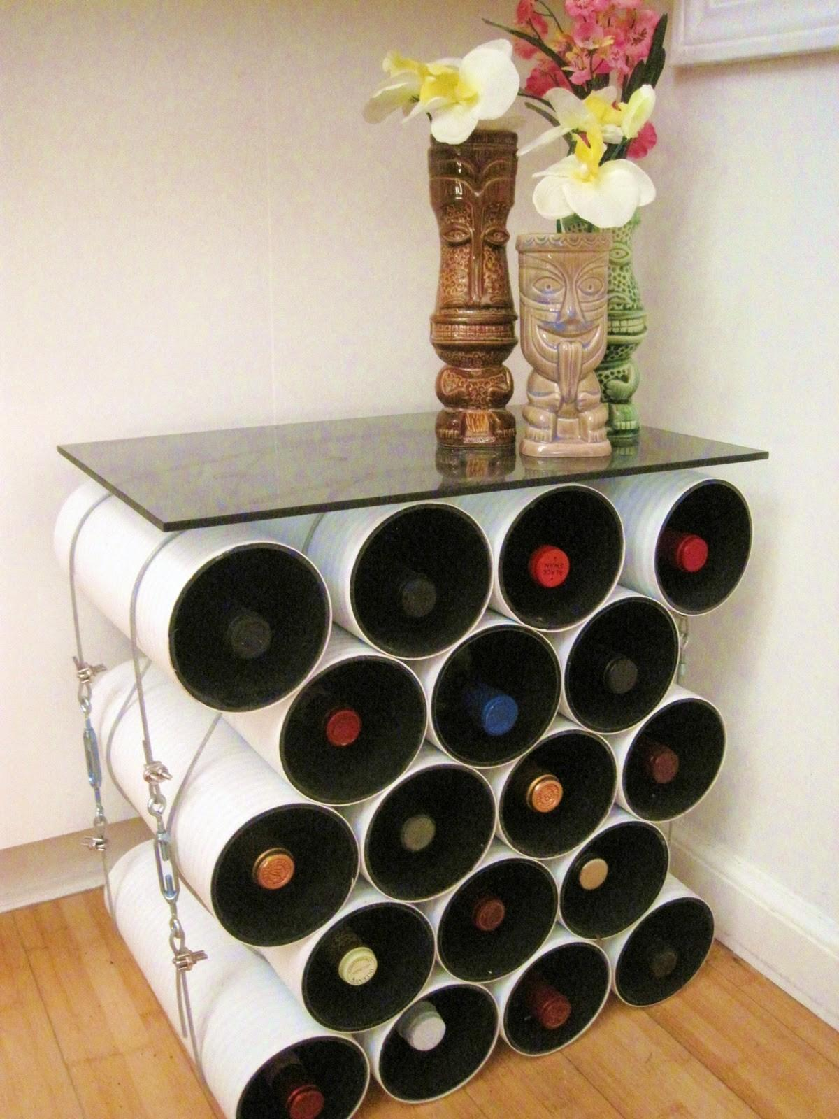Creative Homemade Wine Rack Storage Made Plastic