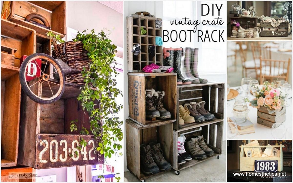 Creative Ideas Purpose Old Wooden Crates