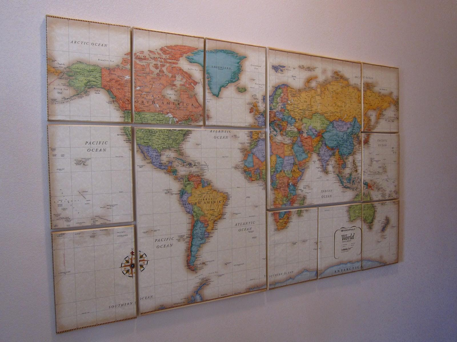 Creative Juices Decor World Map Inspiration Sneak