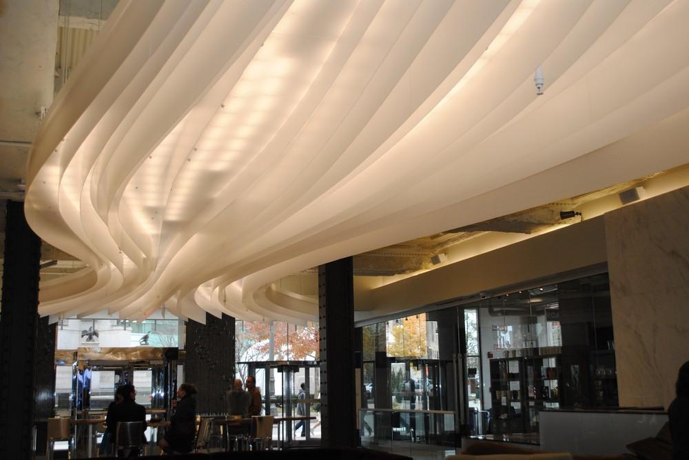 Creative Light Installation Glacier Ribbon Ceiling