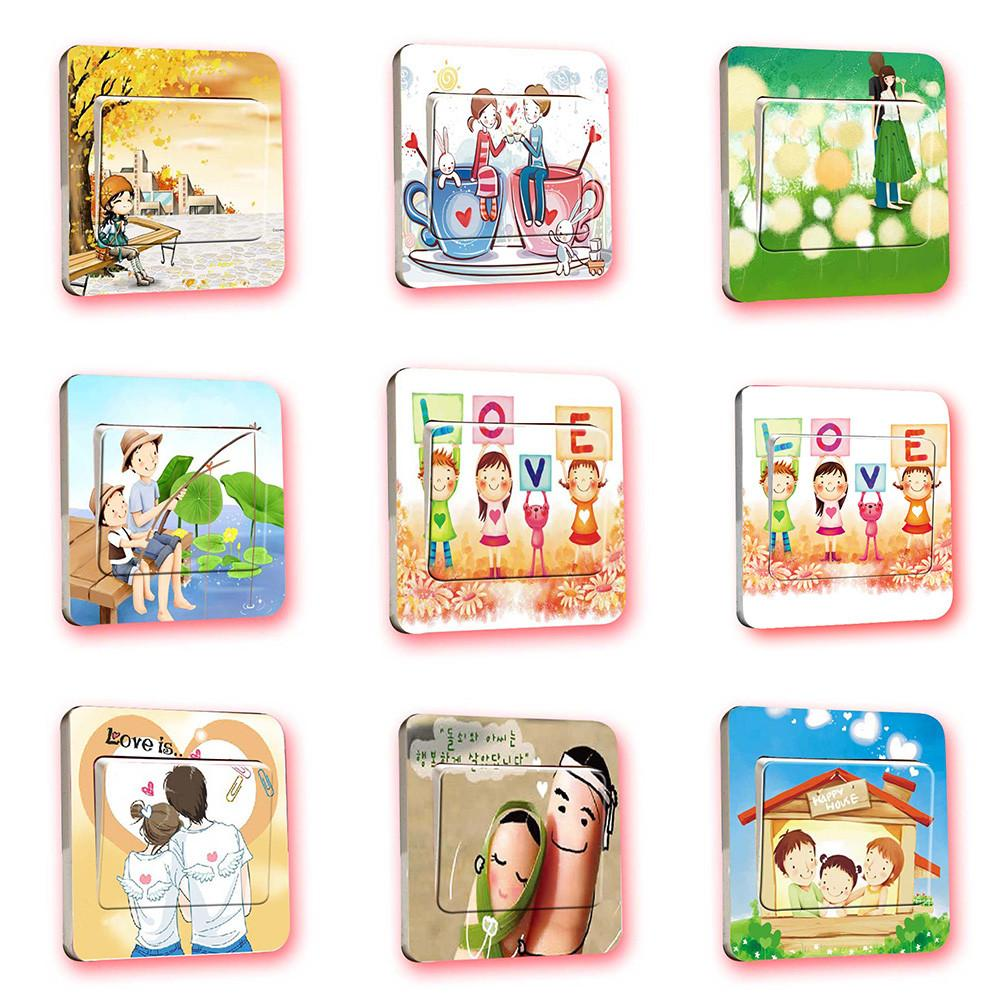 Creative Light Switch Wall Stickers Kids Room Home