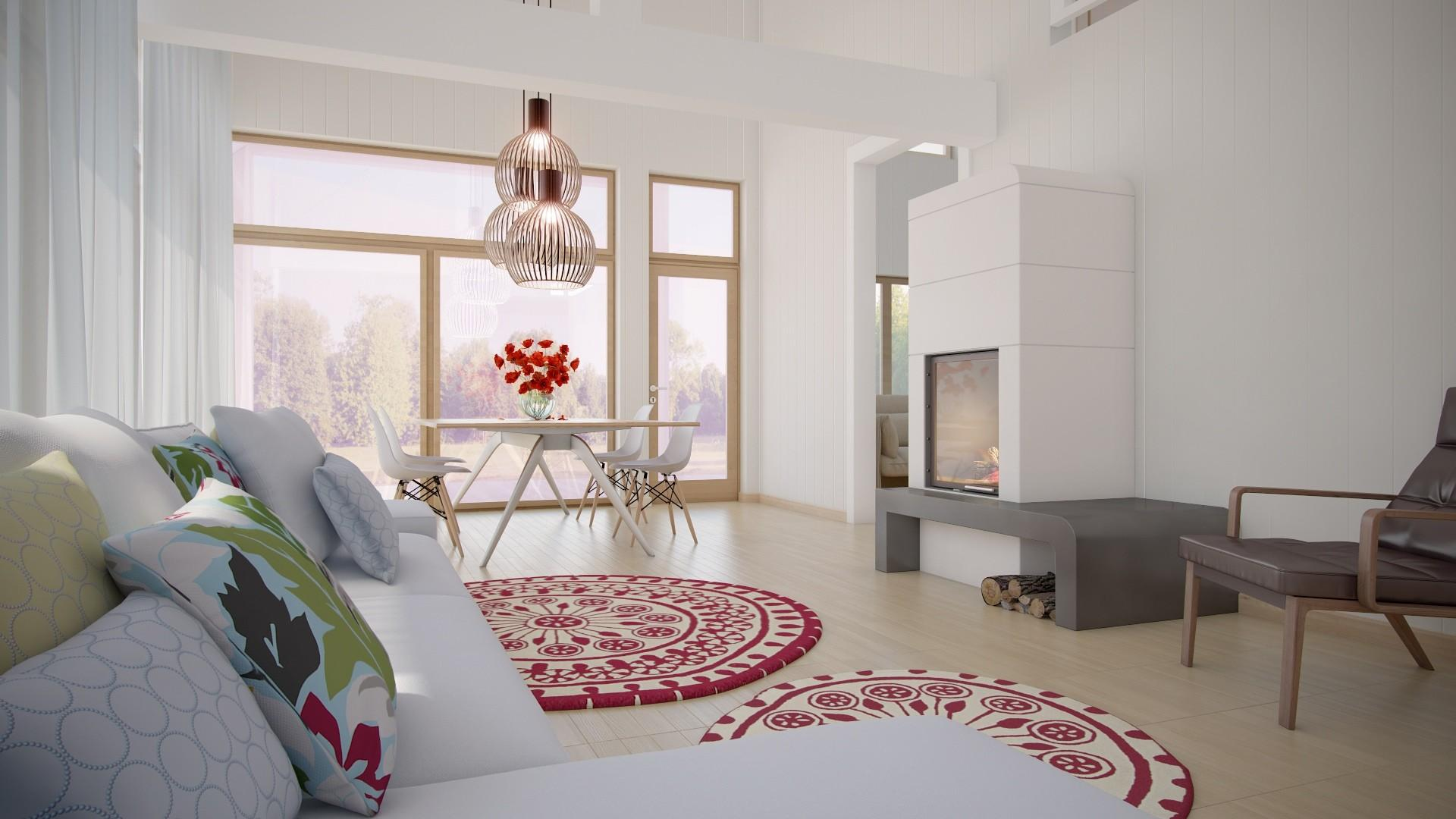 Creative Living Dining Room Red White Combine
