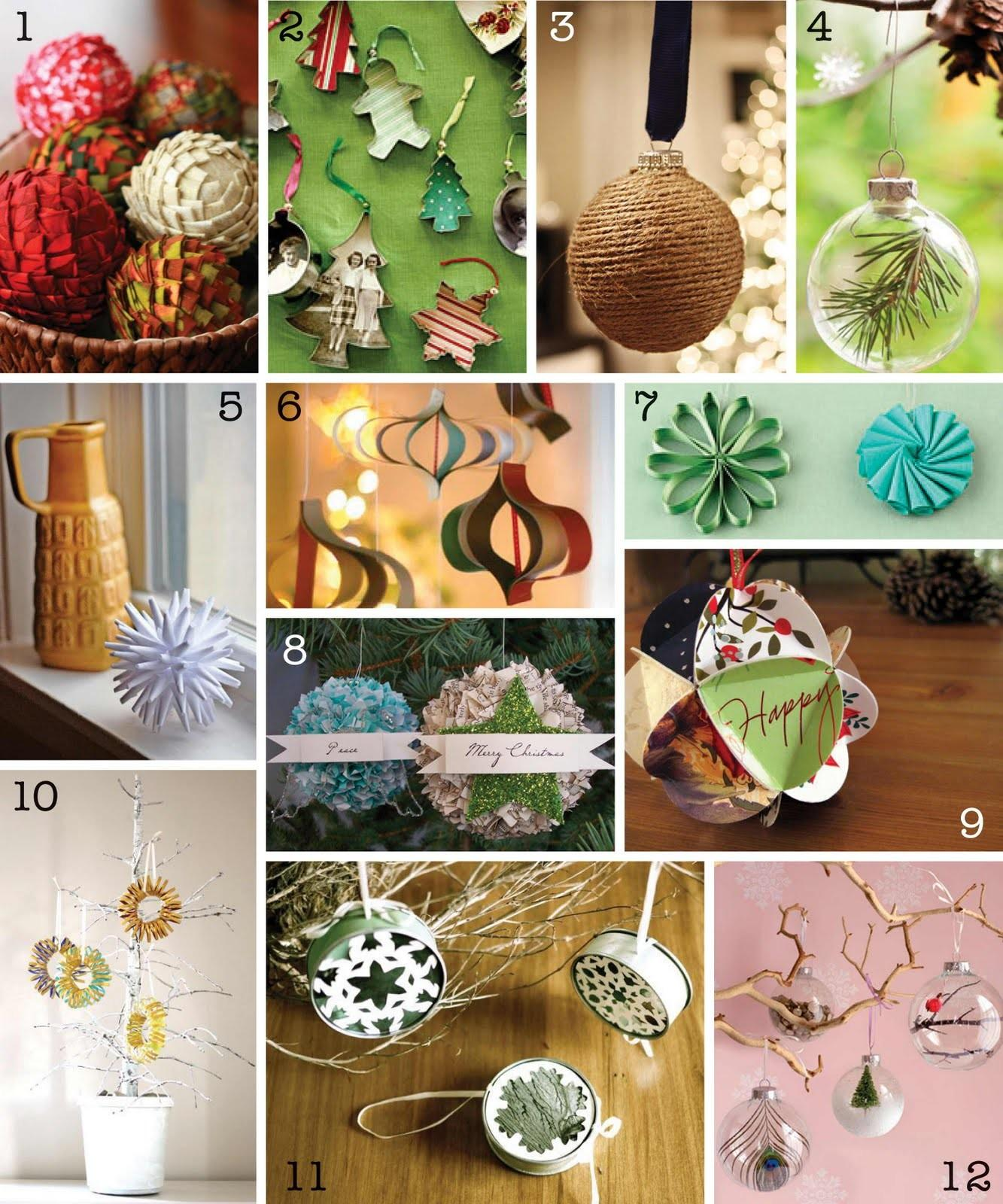 Creative Place Diy Christmas Ornament Round