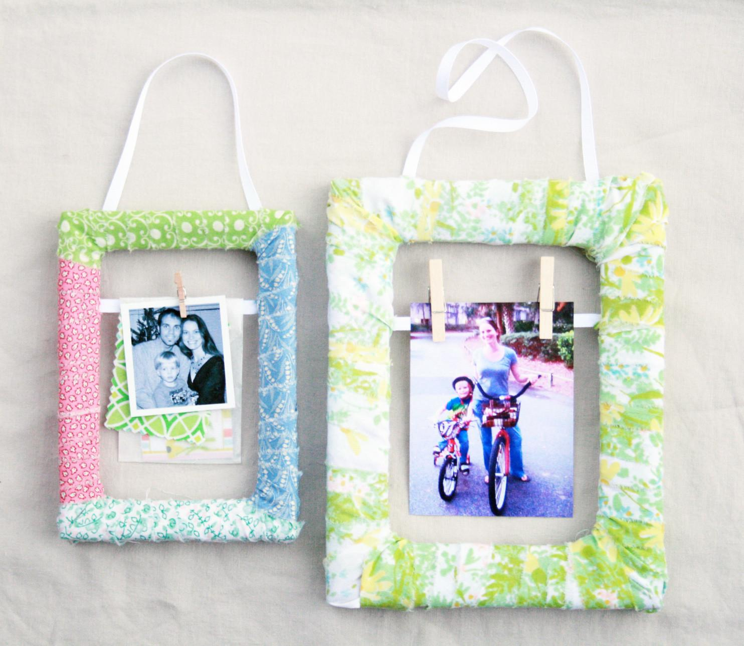 Creative Place Diy Fabric Scrap Wrapped Frame