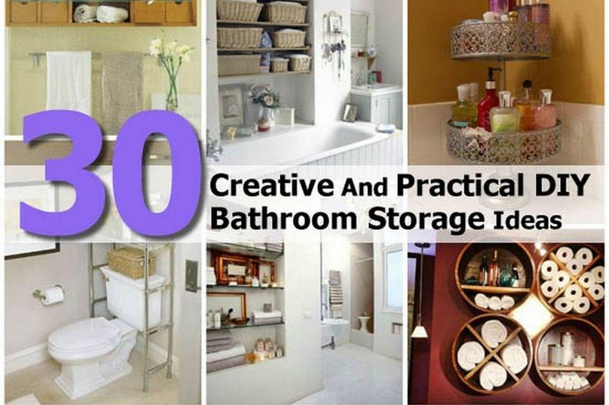 Creative Practical Diy Bathroom Storage Ideas