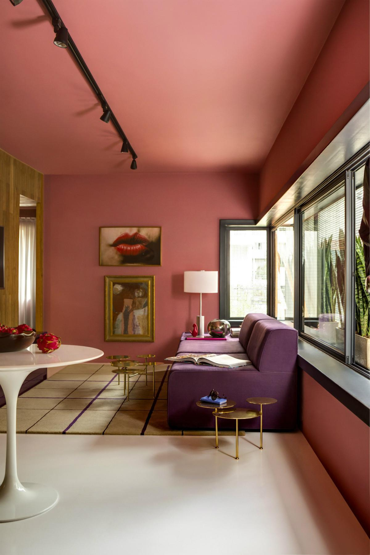 Creative Red Purple Living Room Pink Bedroom
