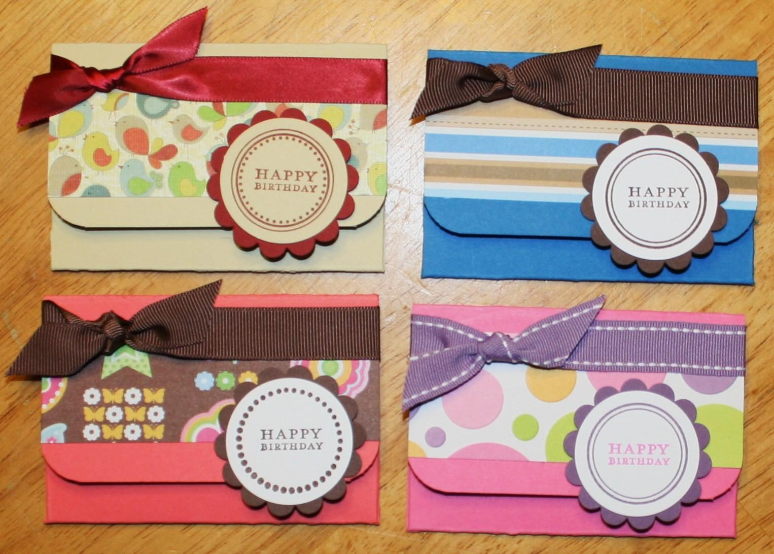Creative Smiles Gift Card Holders Tutorial Version