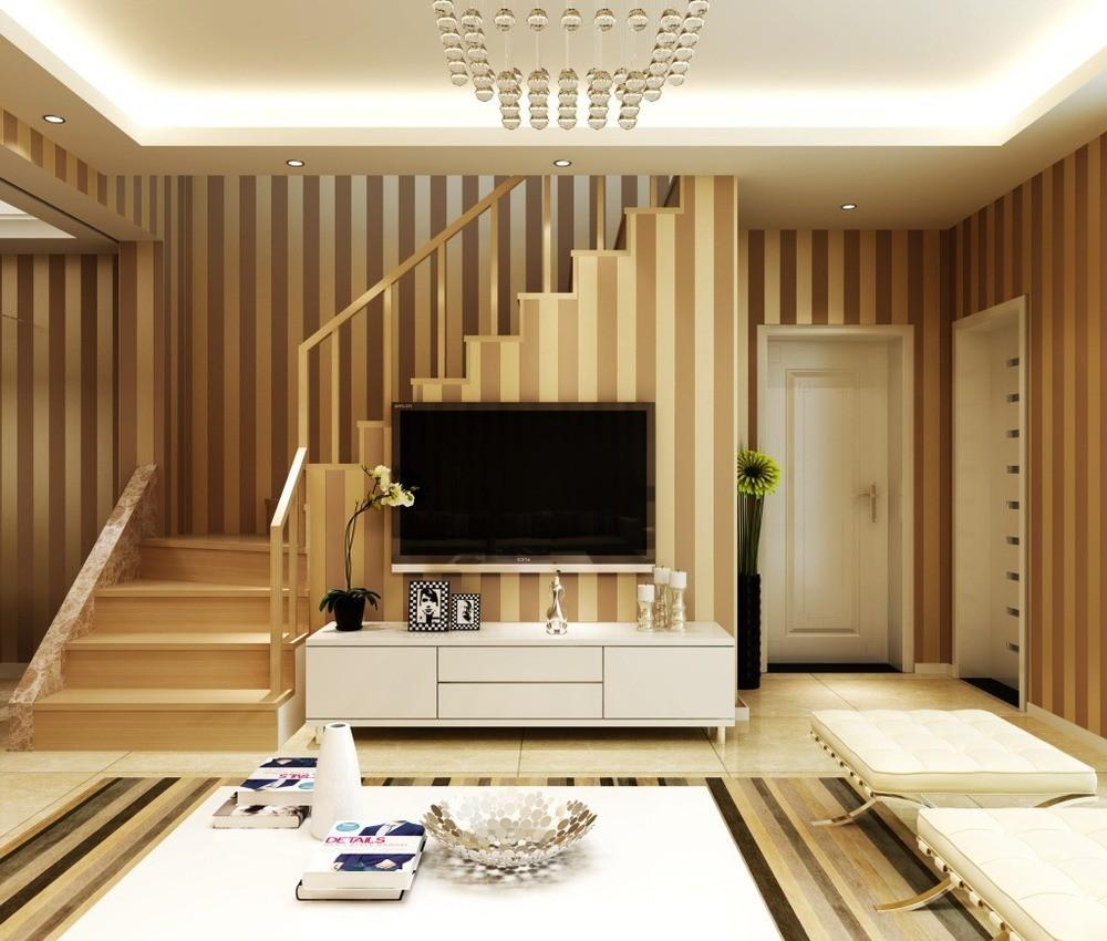 Creative Vertical Striped Living Room Ideas