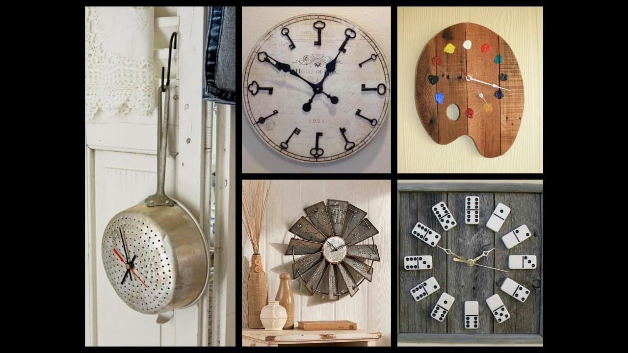 Creative Wall Clock Ideas Recycled Home Decor Attachment
