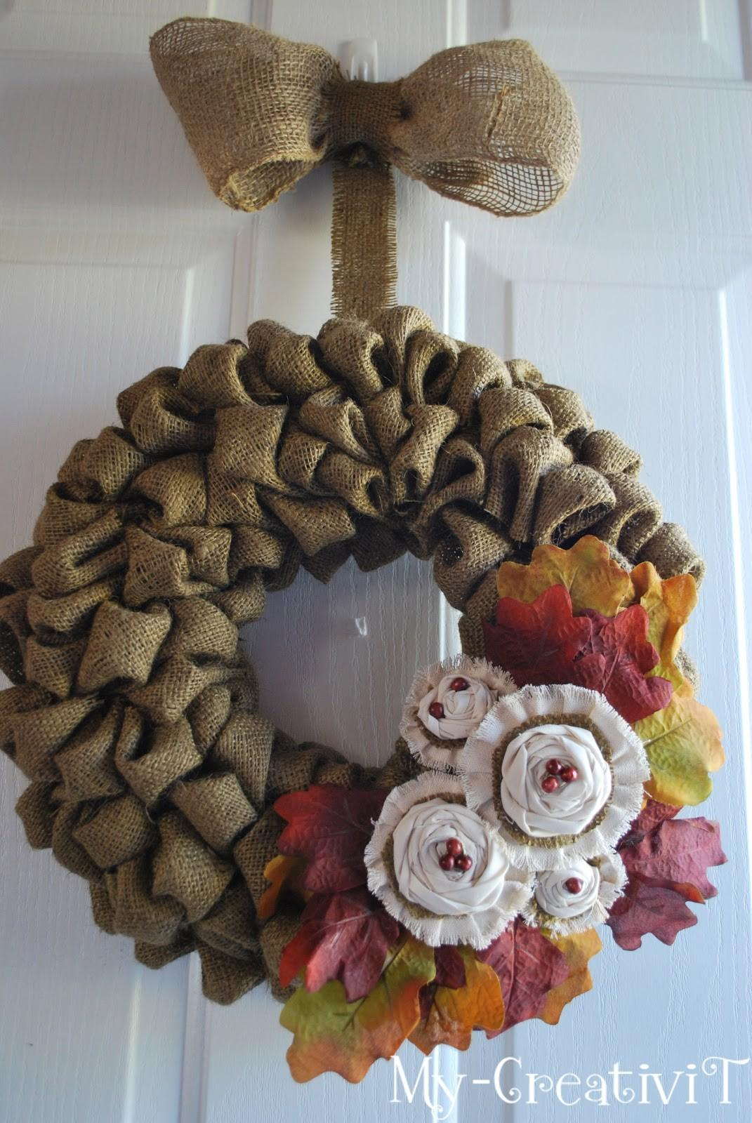Creativit Diy Burlap Wreath