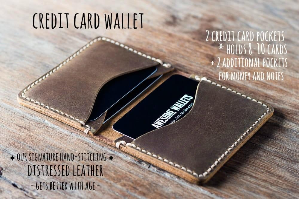 Credit Card Wallet Handmade Mens Personalized Gift Idea