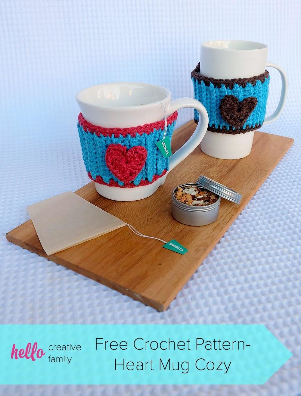 Crochet Heart Mug Cozy Pattern Perfect Your Favorite