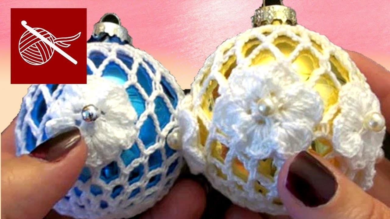 Crochet Lace Christmas Holiday Ornament Tutorial