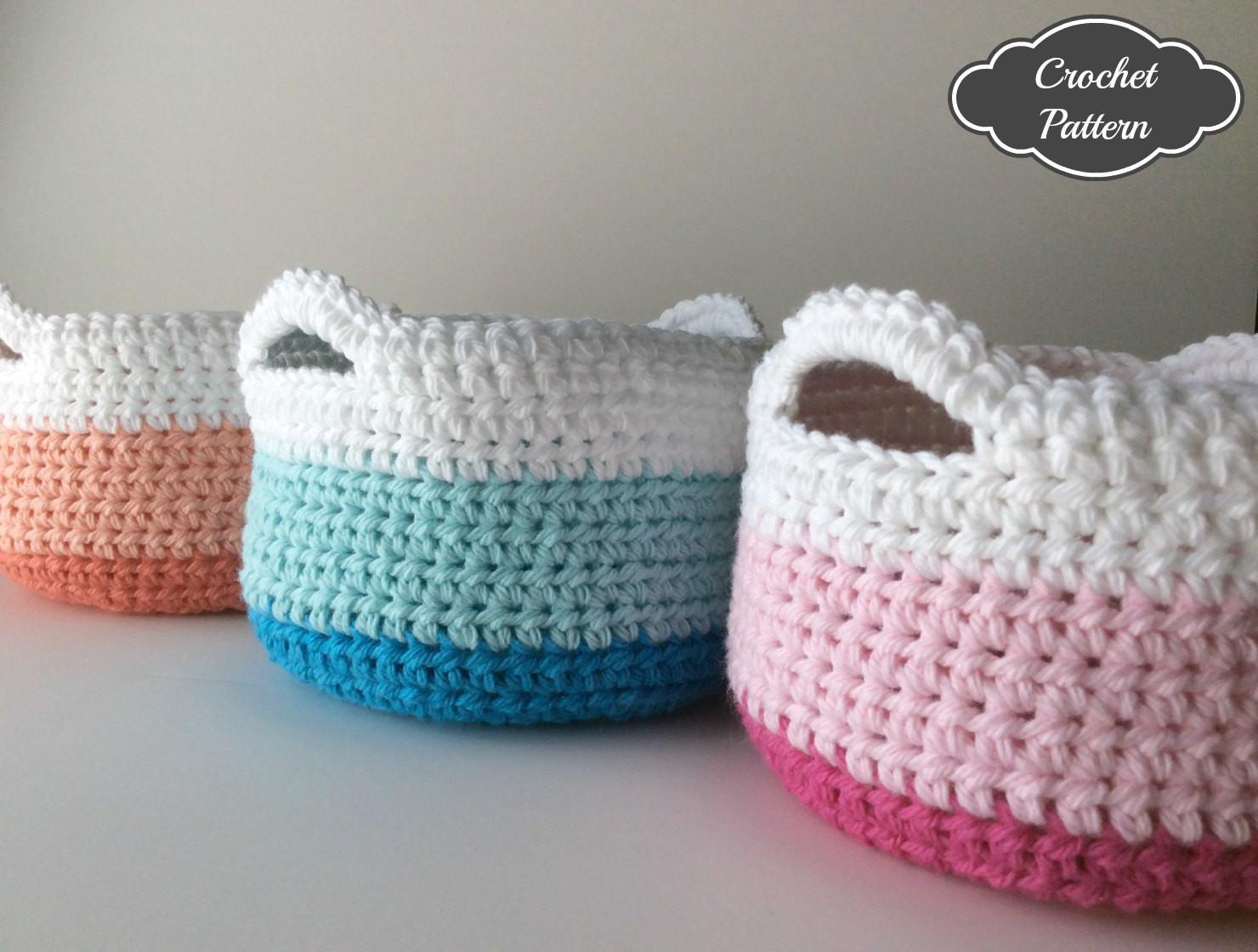 Crochet Pattern Basket Home Decor
