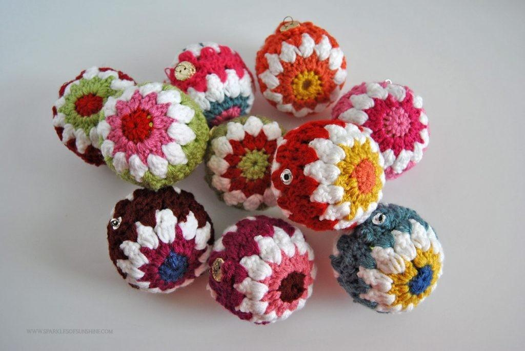 Crocheted Ornaments Pattern Sparkles