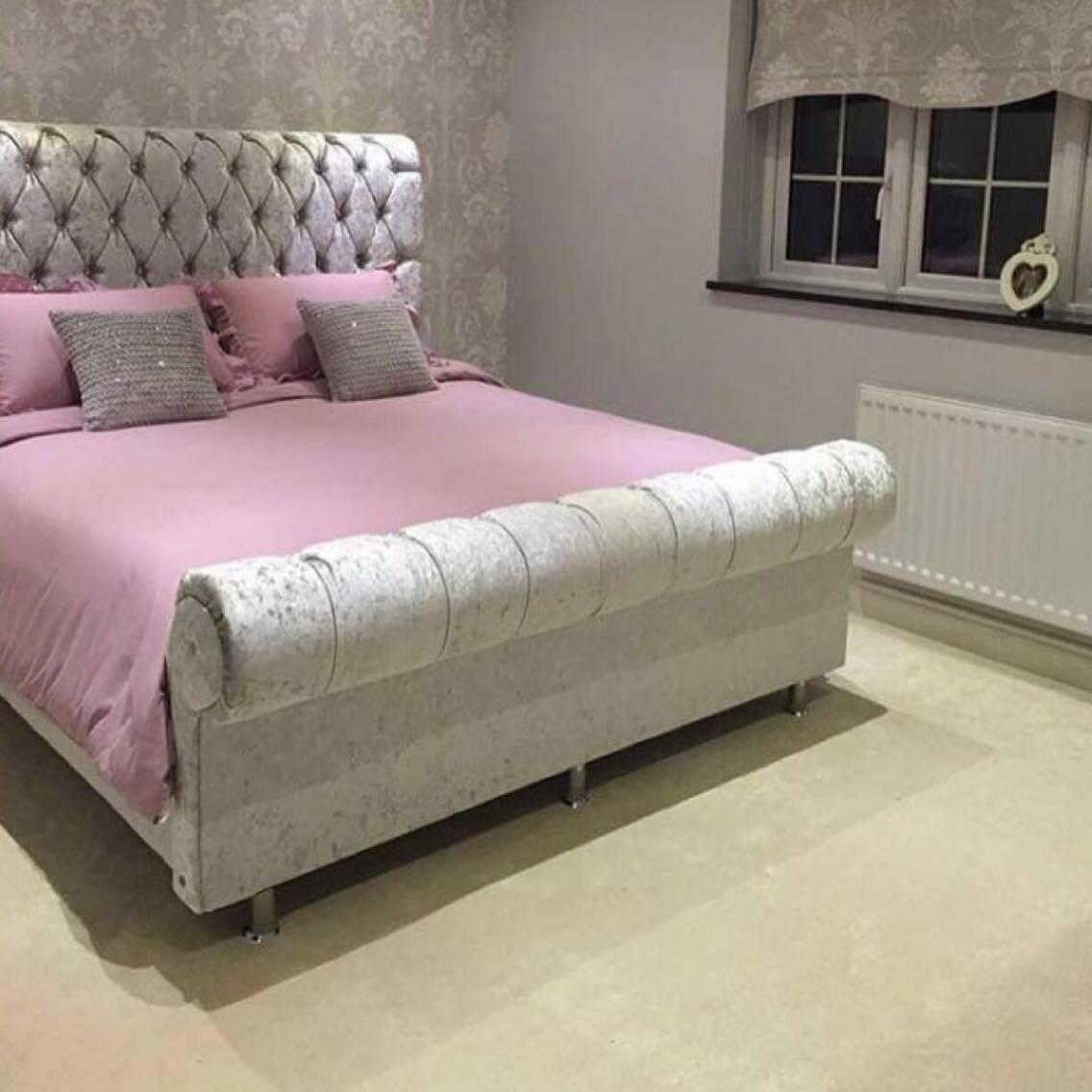 Crown Sleigh Bed House Sparkles