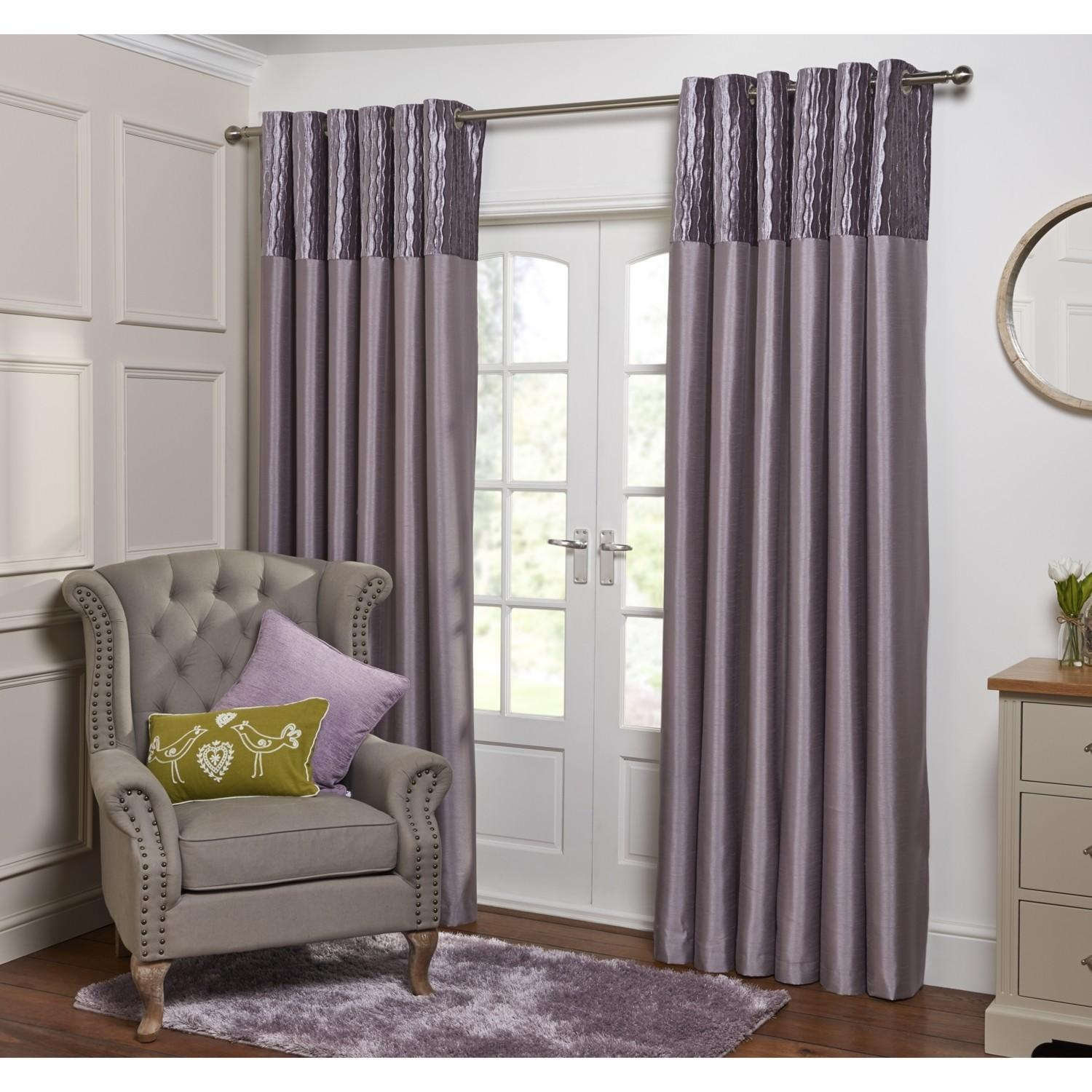 Crushed Velvet Top Curtains