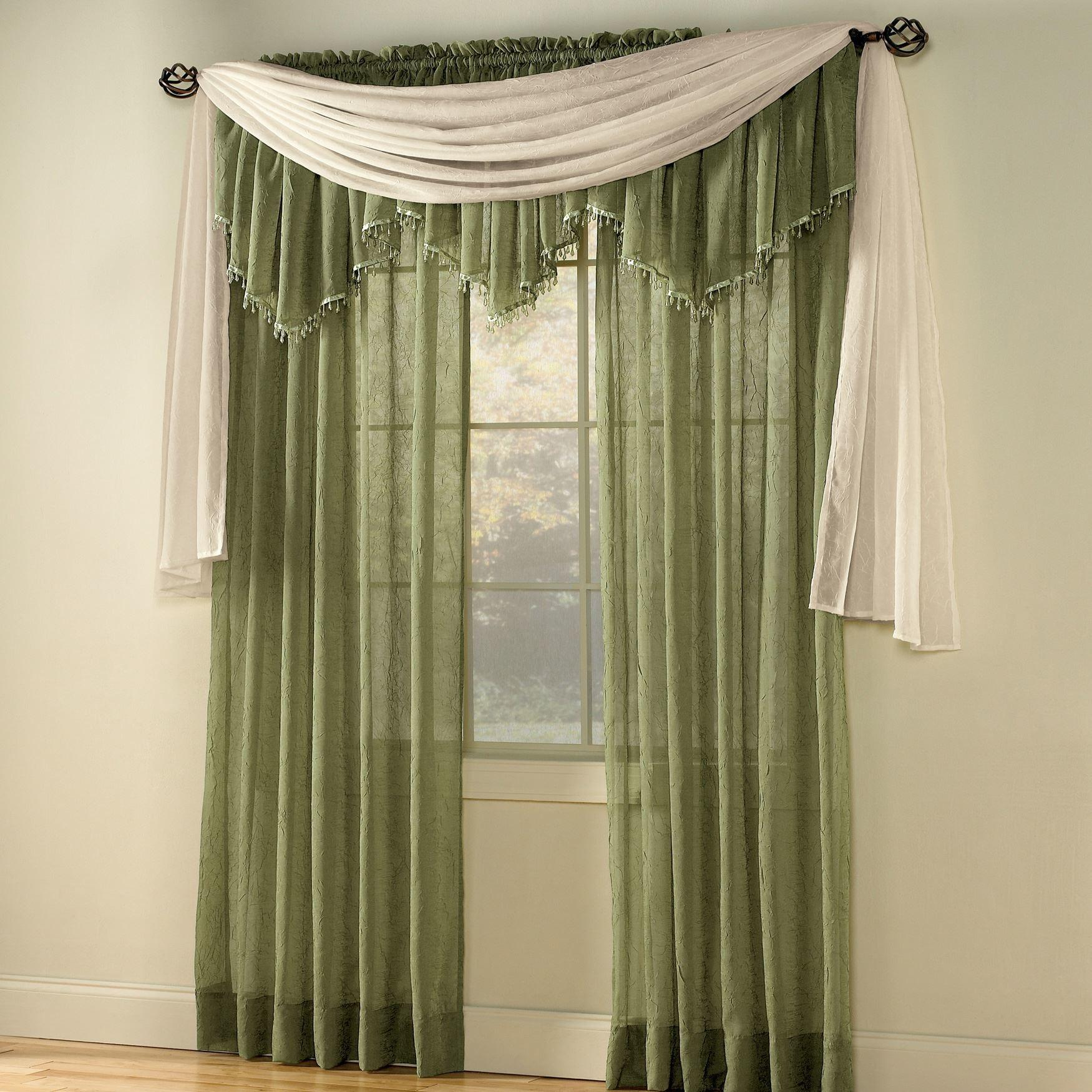 Crushed Voile Sheer Curtains Glamorous Cheap