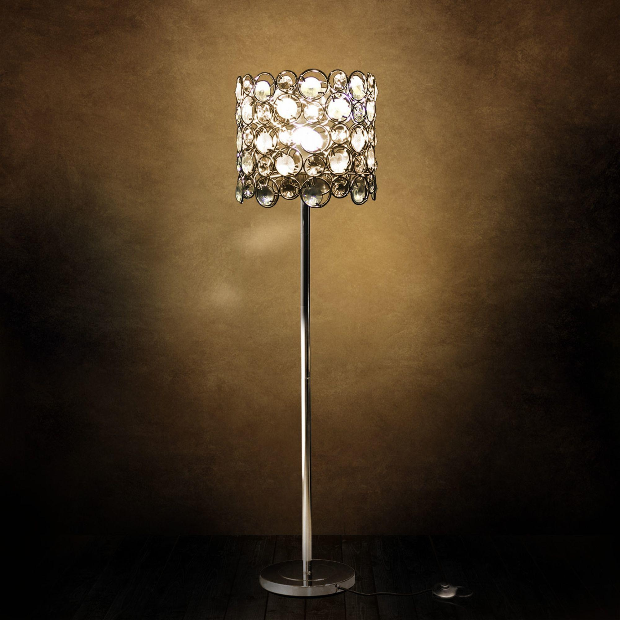 Crystal Floor Lamp Standard Living Room Light