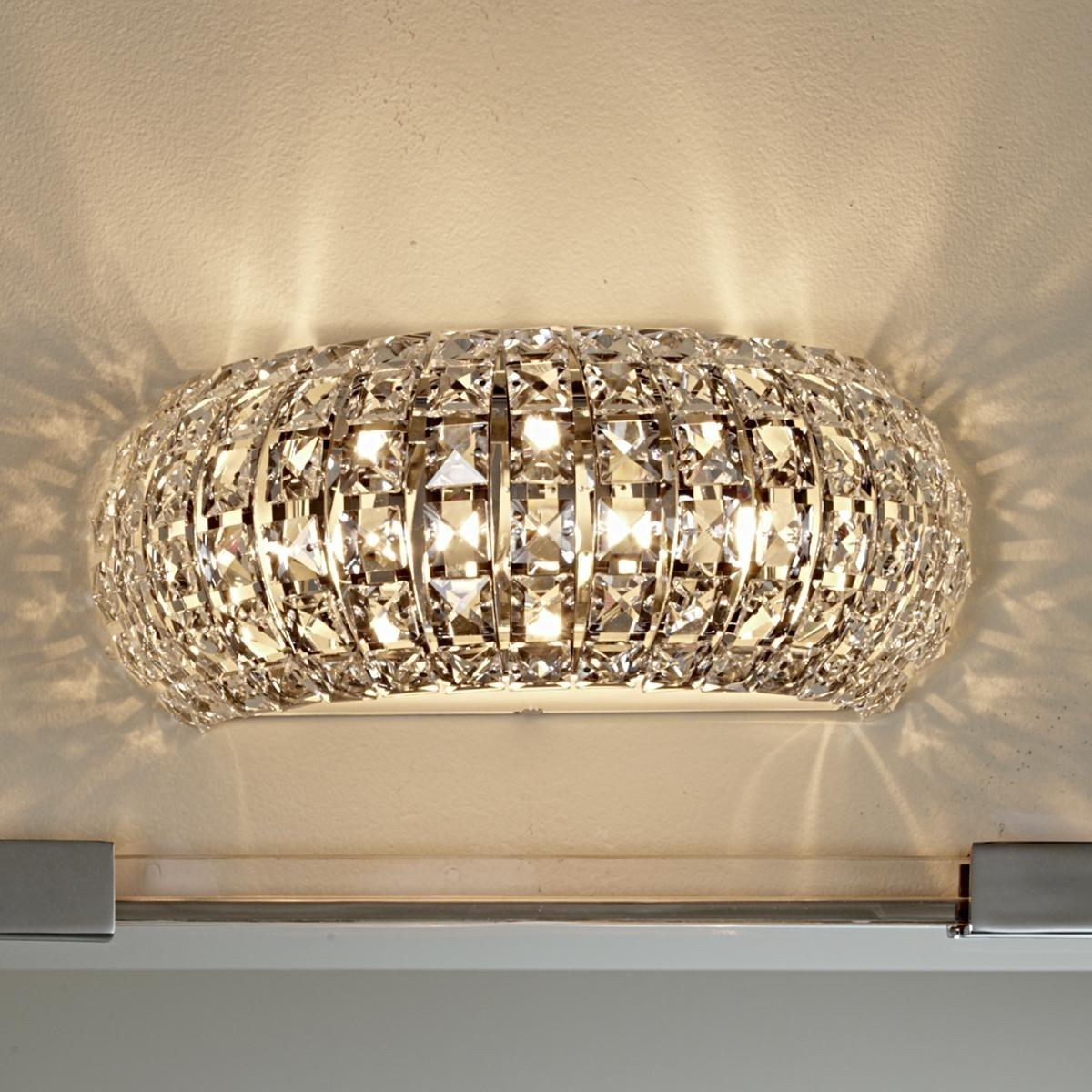 Crystal Wall Sconces Bathroom