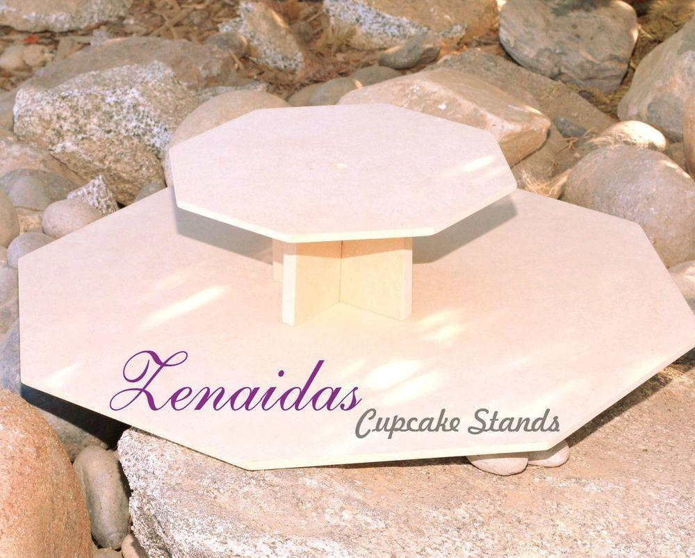 Cupcake Stand Octagon Tier Diy Project Mdf Wood