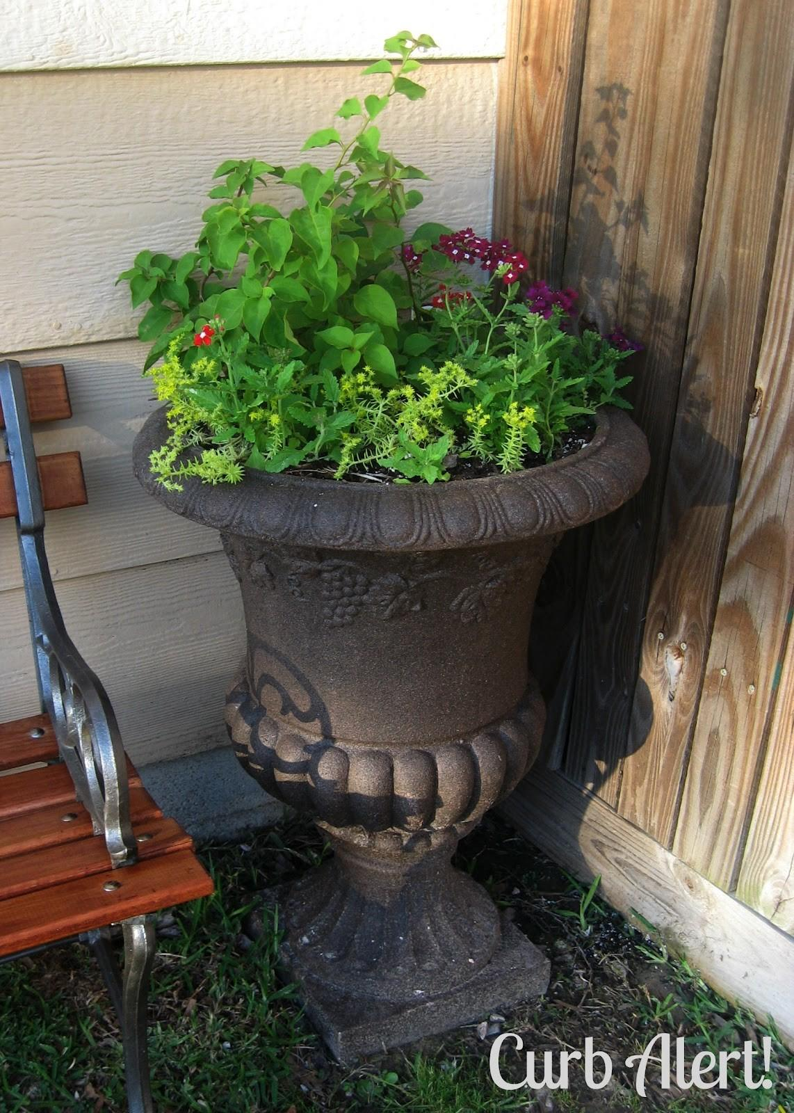 Curb Alert Outdoor Cement Planter Urn