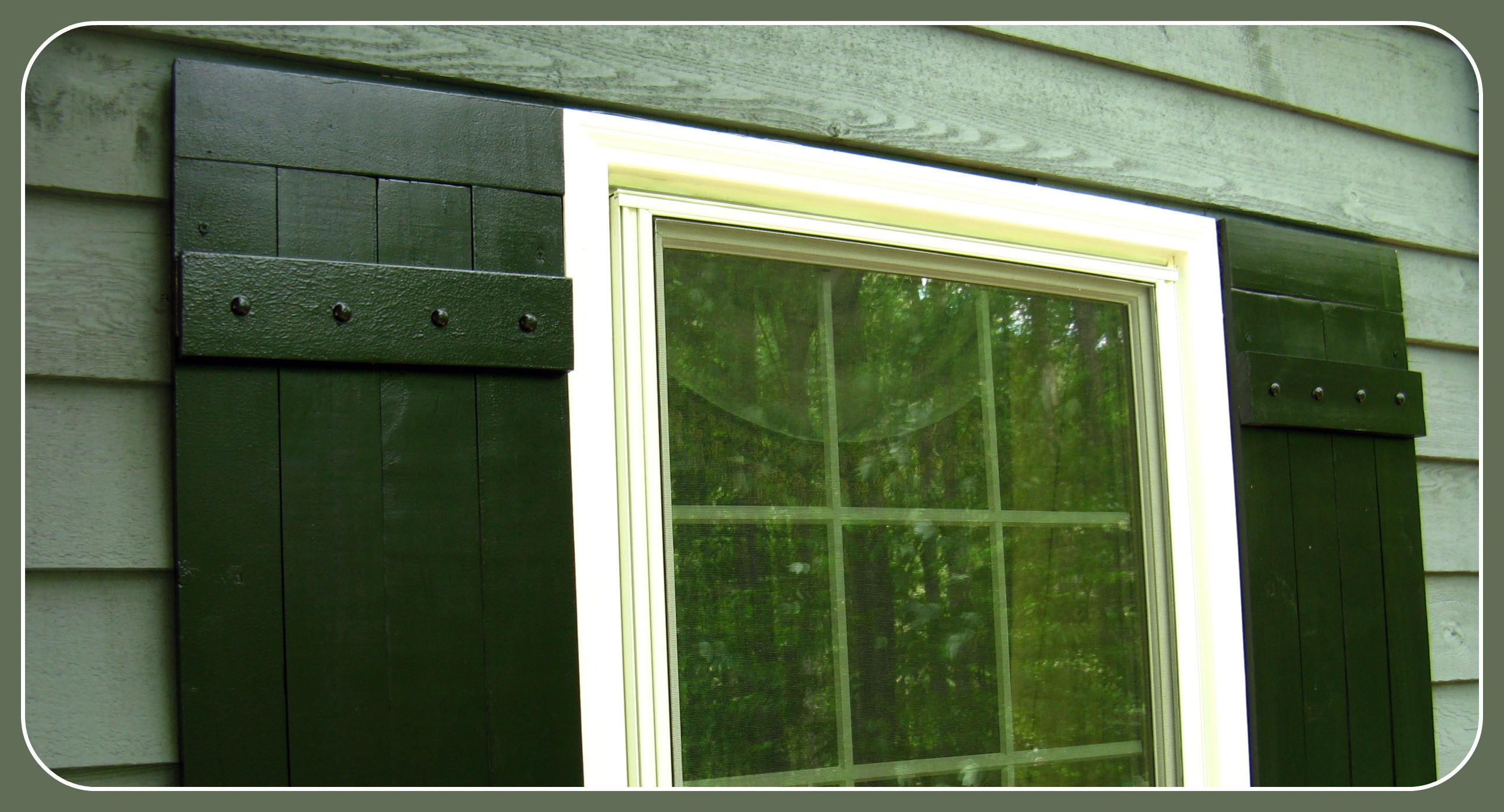Curb Appeal Painting Shutters Check Lettres