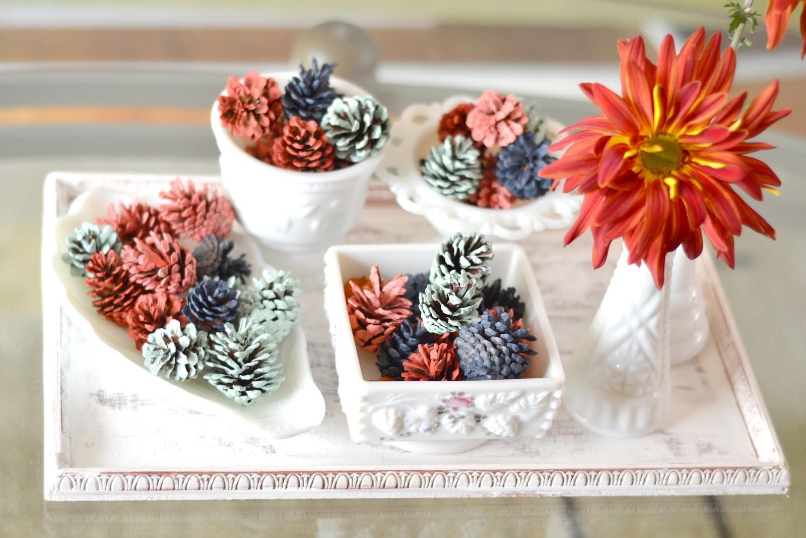 Curiositaellya Fall Decor Hand Painted Pine Cones Diy