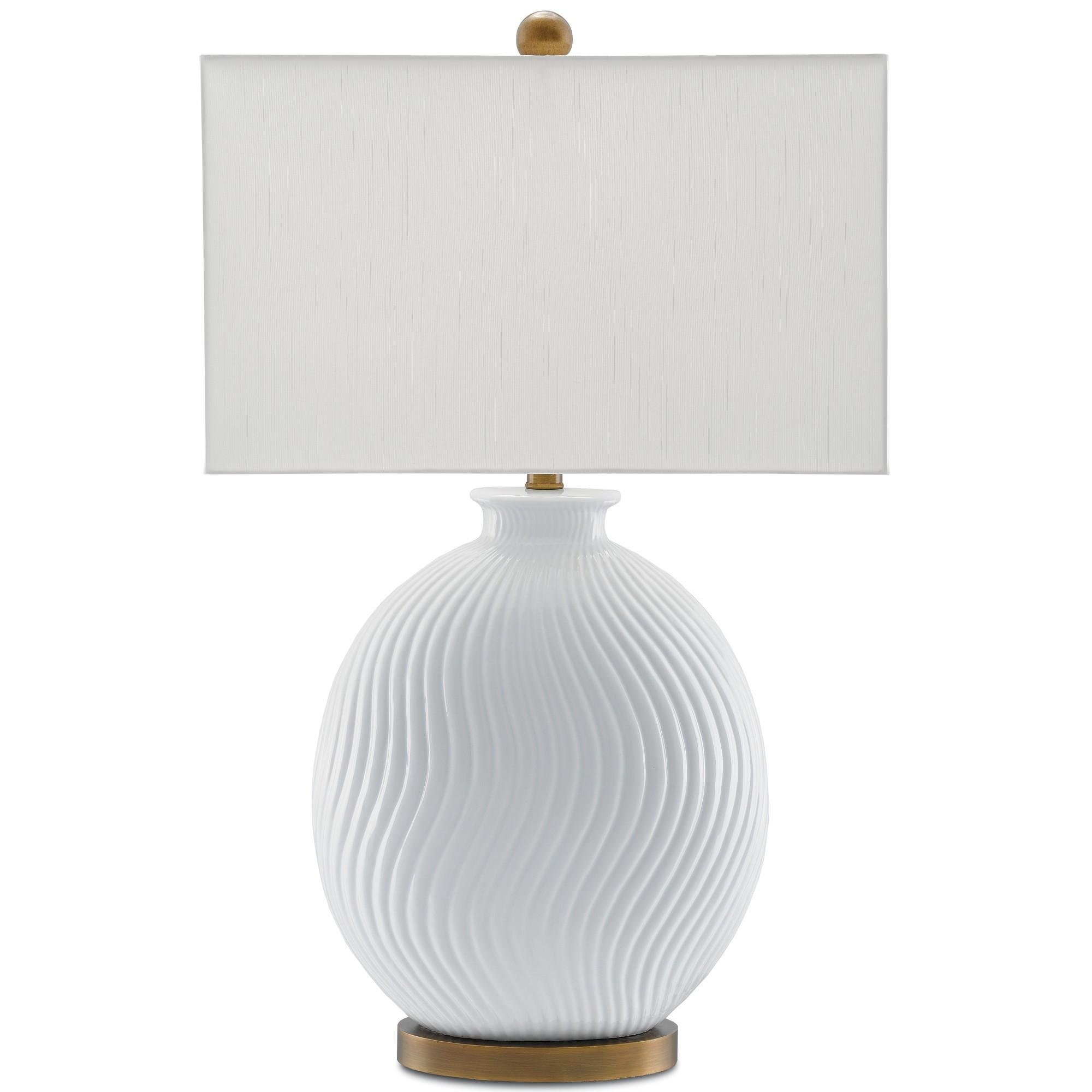 Currey Alcazar Porcelain Table Lamp White Glaze