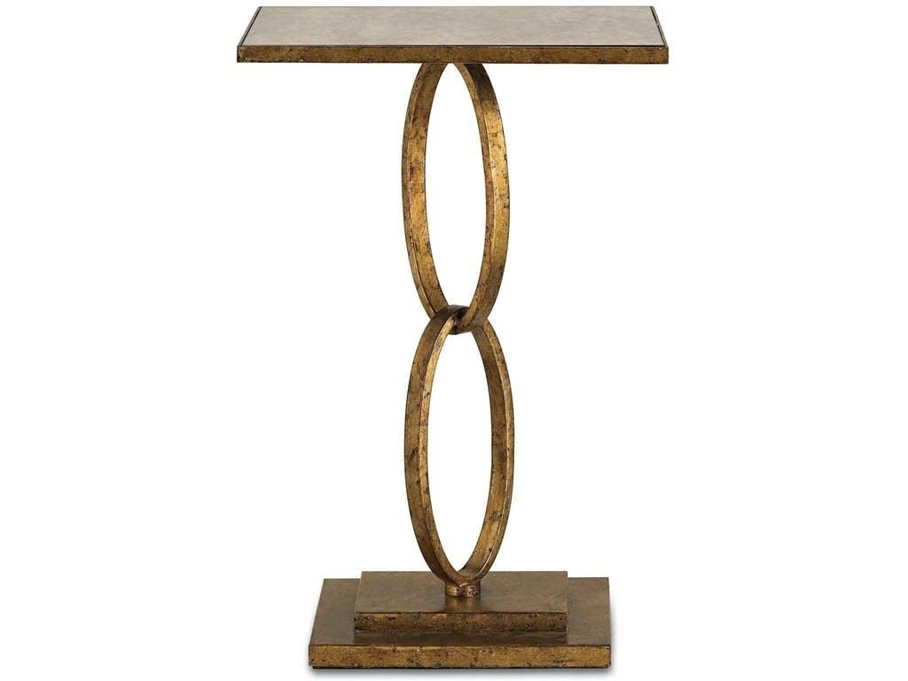 Currey Company Living Room Bangle Accent Table Gold
