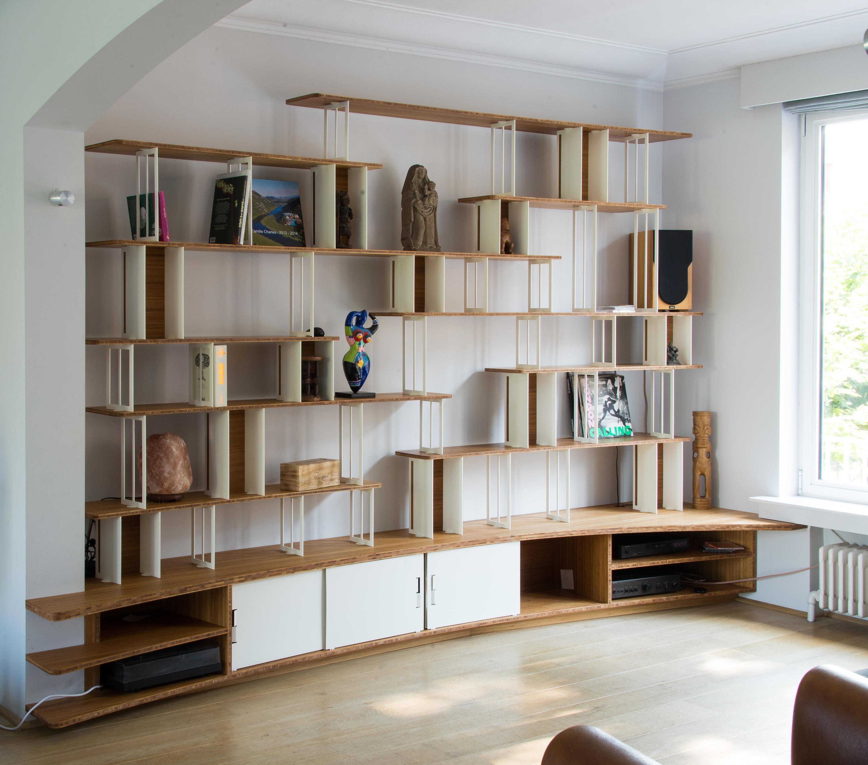 Curve Steel Bookshelf Office Shelving Systems