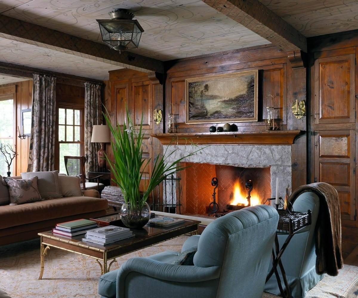 Cushty Your Mountain Cabin Rustic Living Room Interior