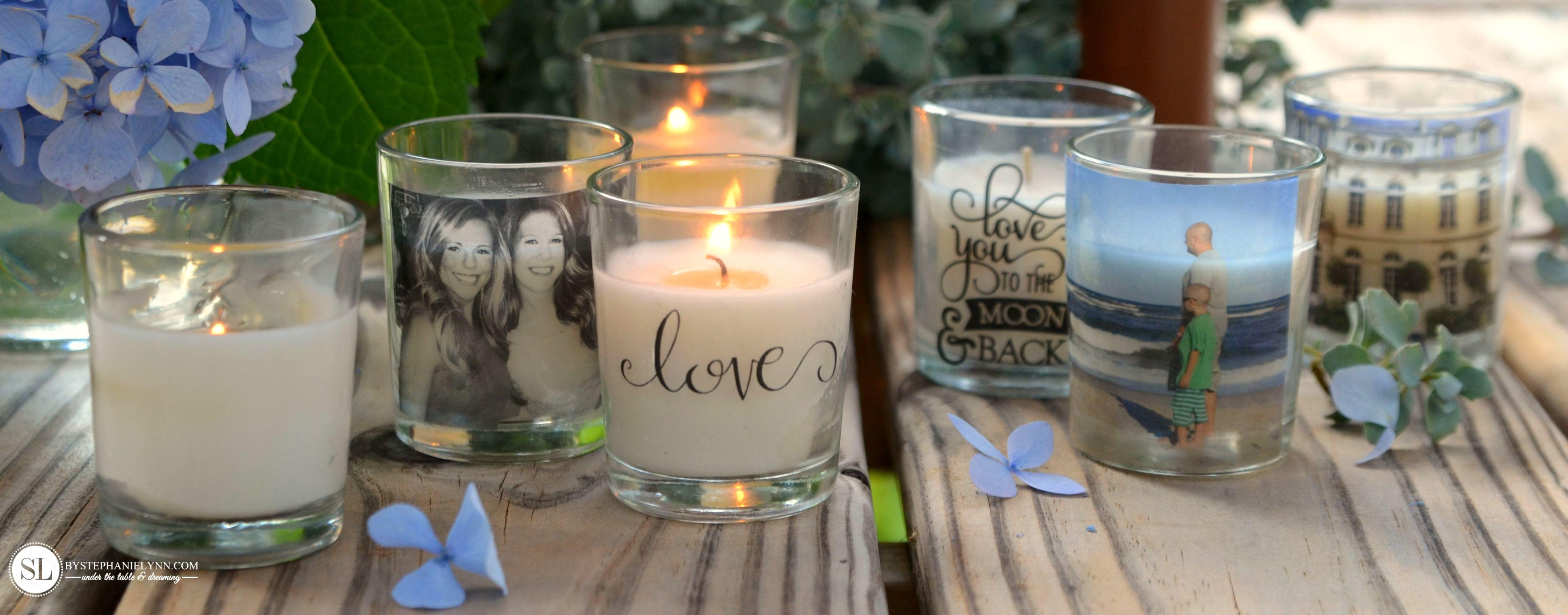 Custom Candle Holders Diy Packing Tape Transfers