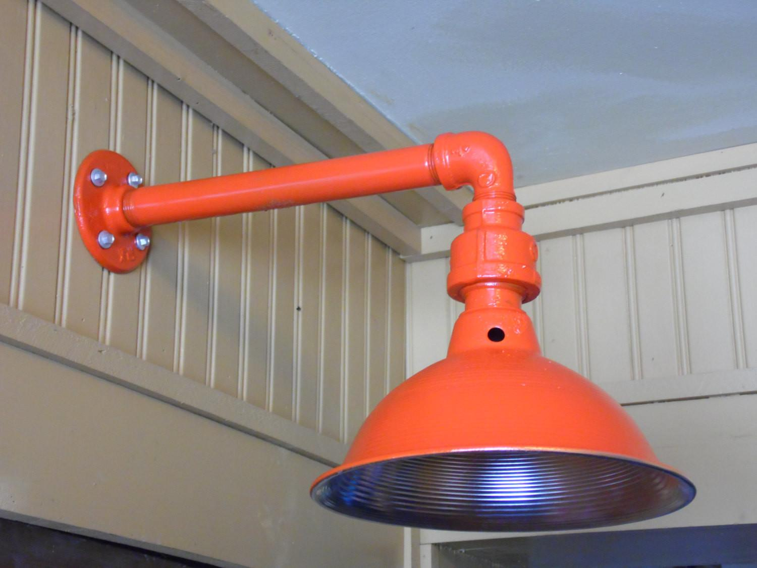 Custom Colored Light Fixture Sconce Barn Industrial