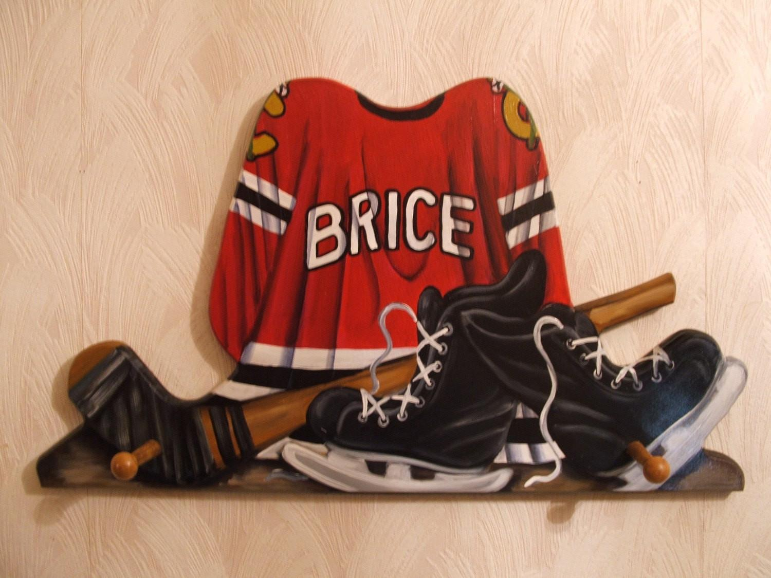 Custom Hockey Jersey Wall Hanging Pegs