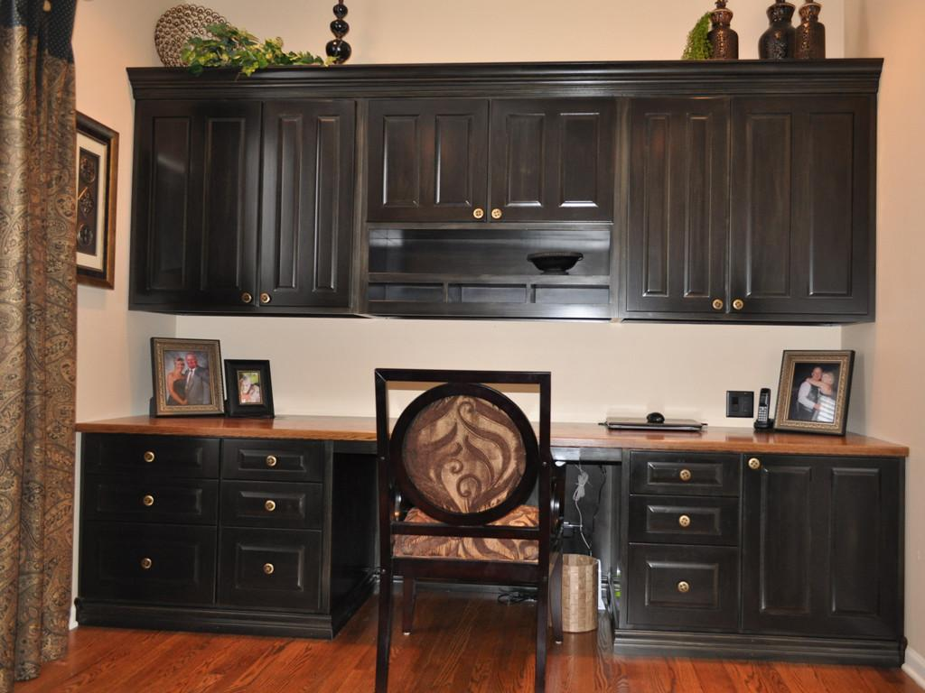 Custom Home Office Remodeling Fireplace