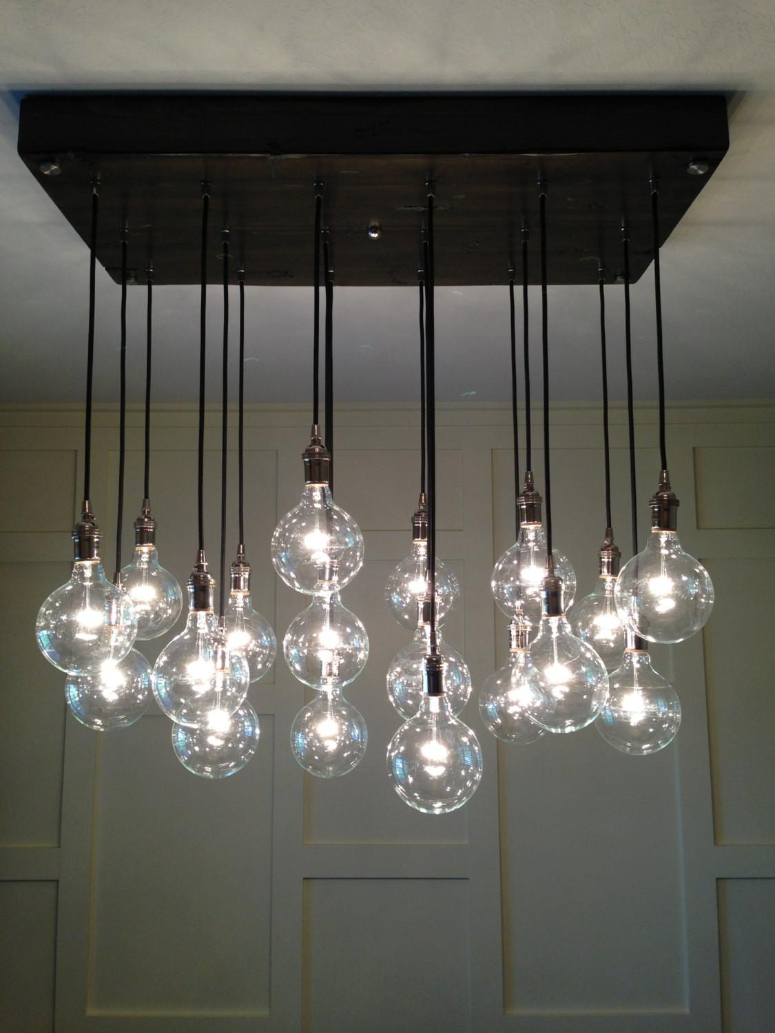 Custom Industrial Chandelier Modern Glass Pendants