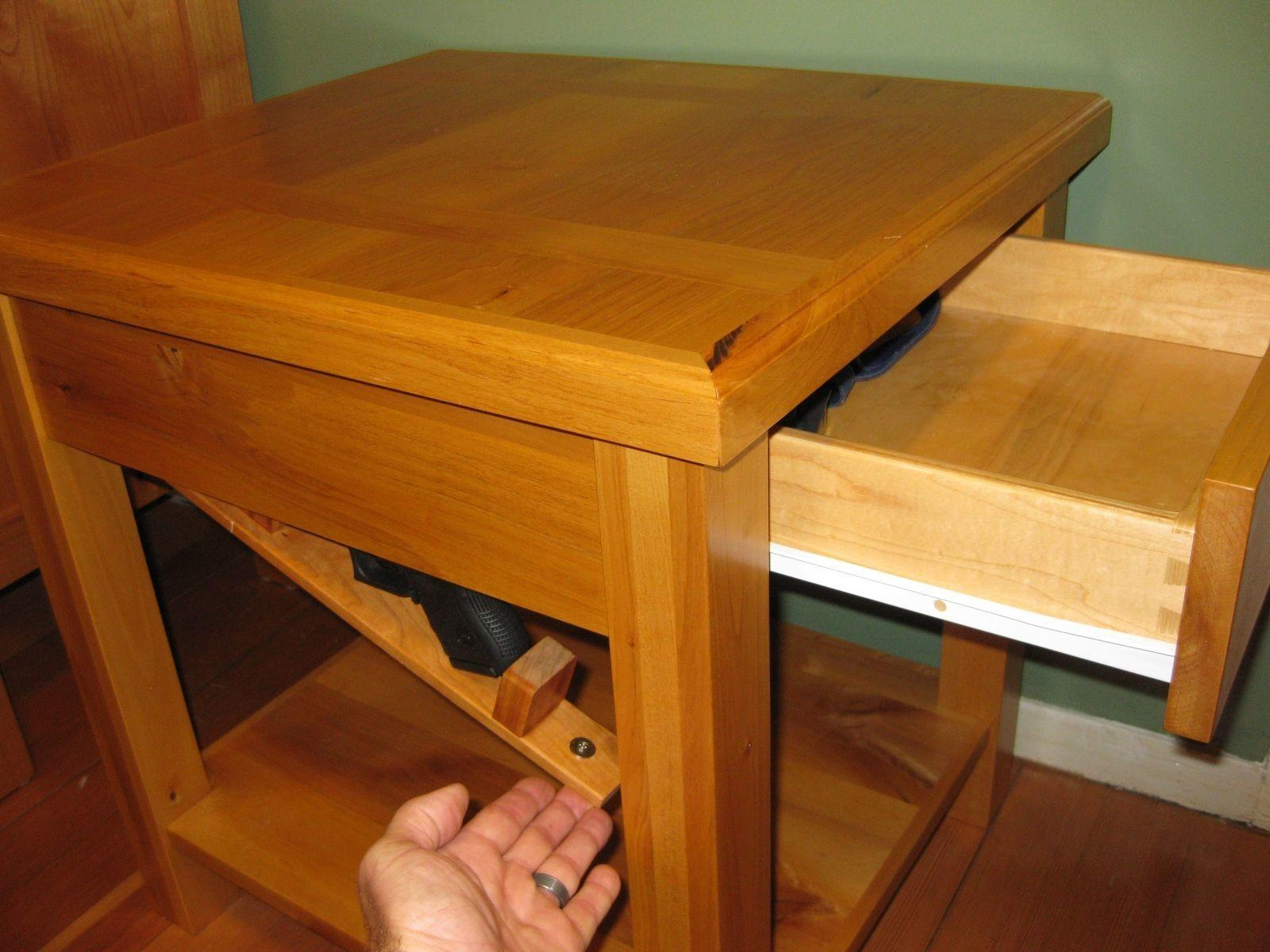 Custom Made Bedside Table Secret Compartment Cope