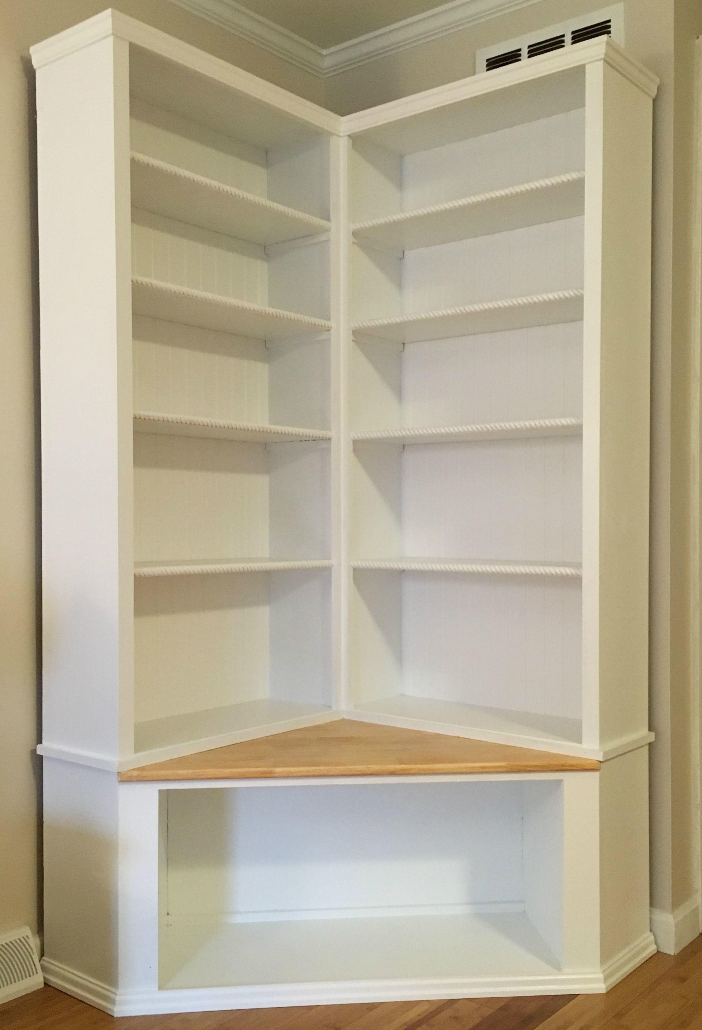 Custom Made Shabby Chic Corner Bookcase Seat