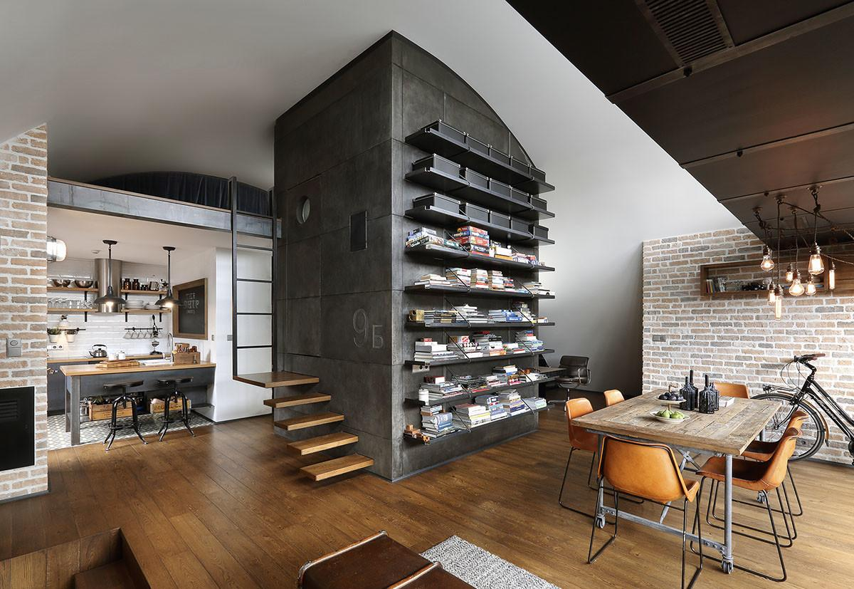 Custom Reconstructed Attic Loft Apartment Hipster
