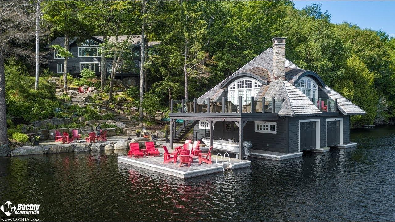 Custom Rustic Muskoka Cottage Boat House