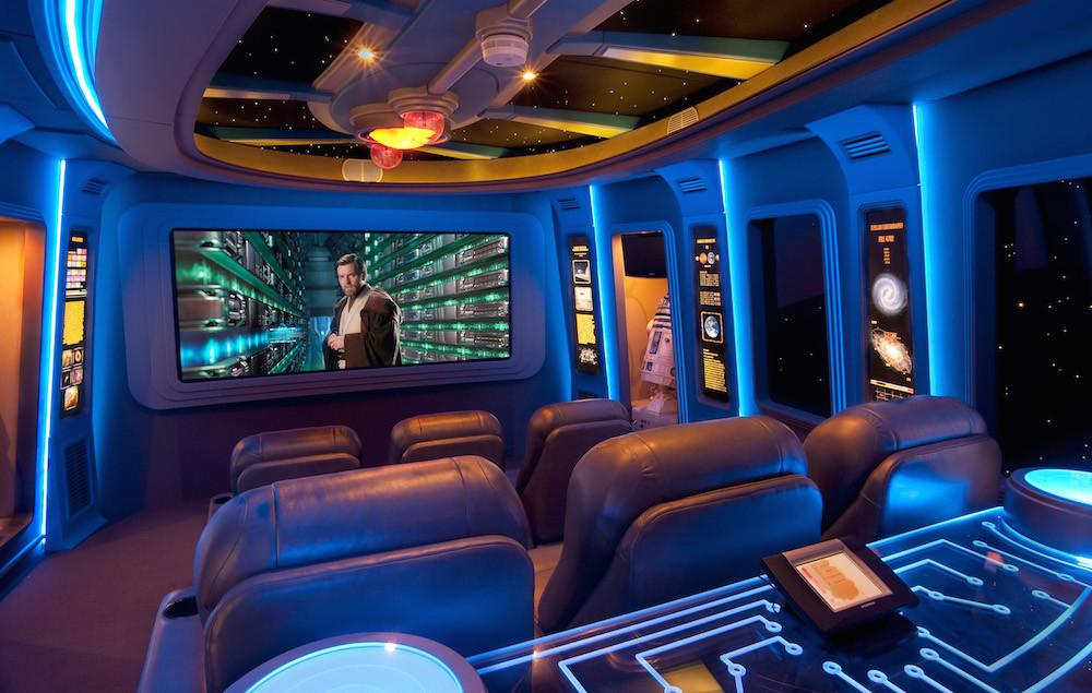 Custom Star Wars Themed Home Theater