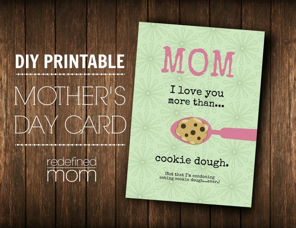 Customizable Diy Printable Mother Day Card