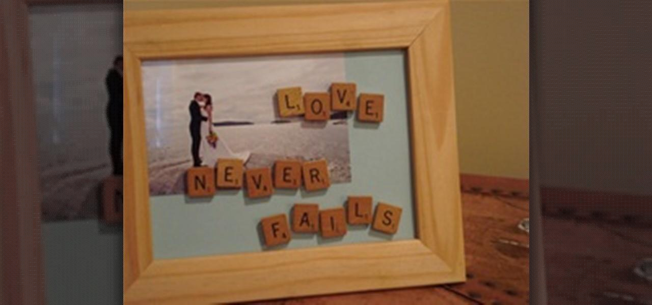 Customize Frame Scrabble Letters