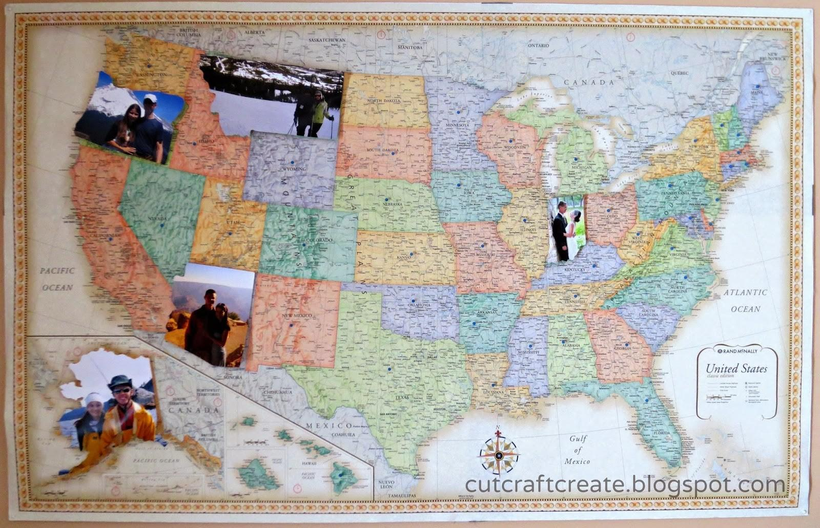 Cut Craft Create Personalized Map Our Paper