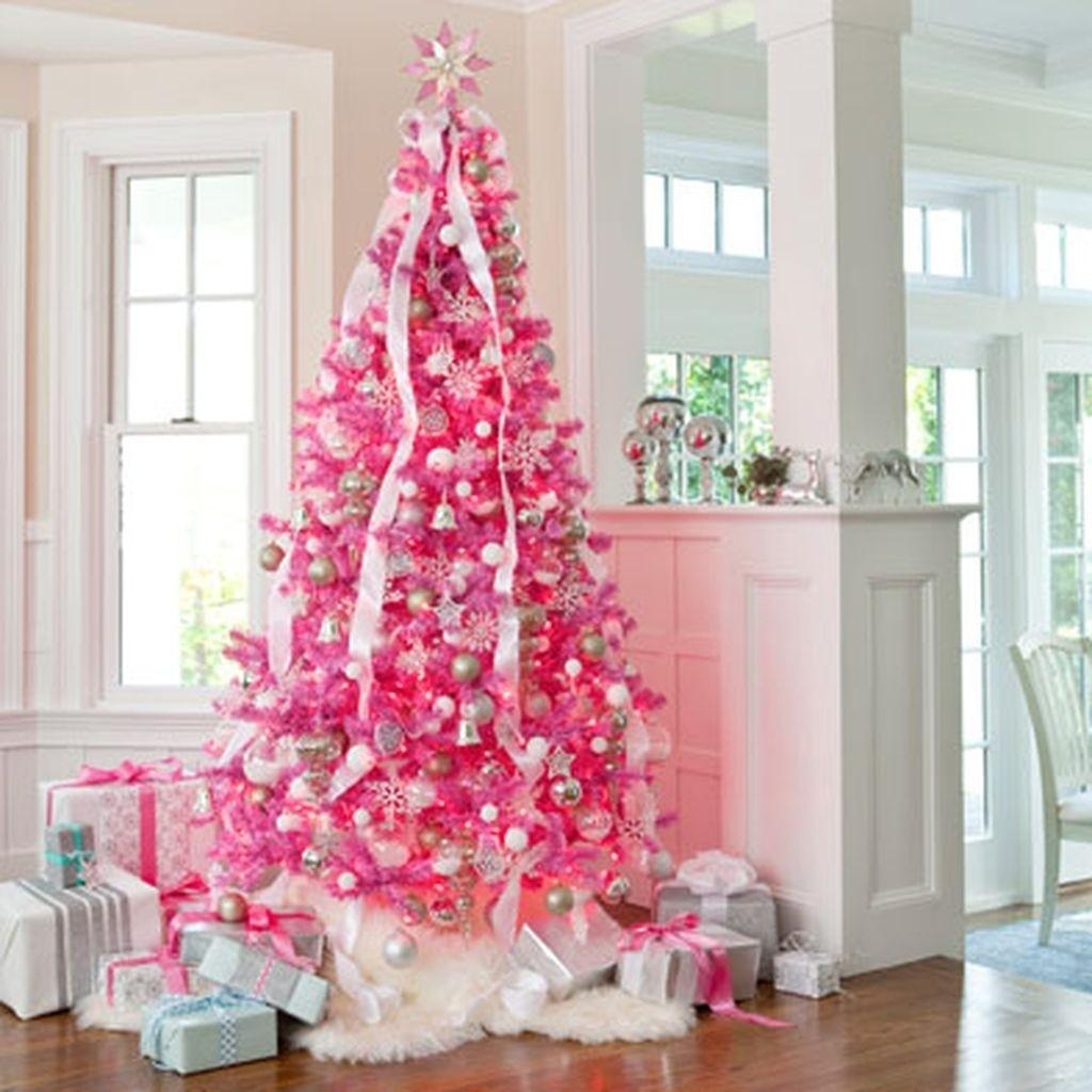 Cute Adorable Pink Christmas Tree Decoration Ideas