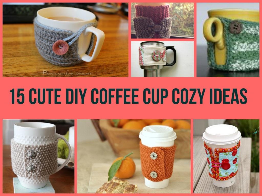 Cute Diy Coffee Cup Cozy Ideas