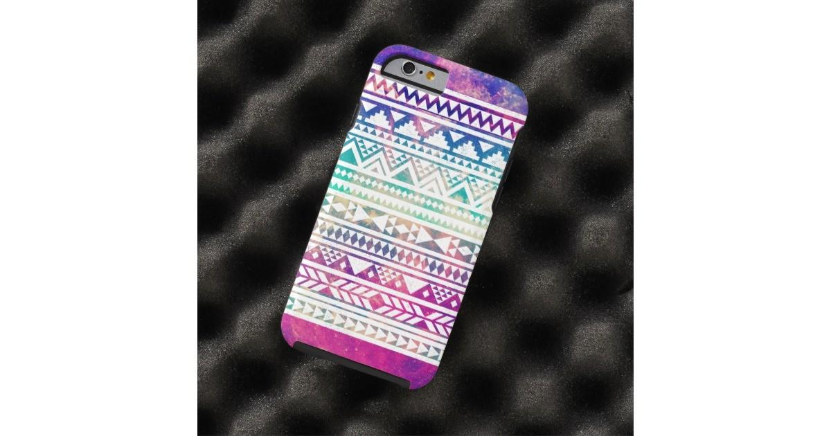 Cute Girly Colorful Pastel Nebula Aztec Pattern Tough