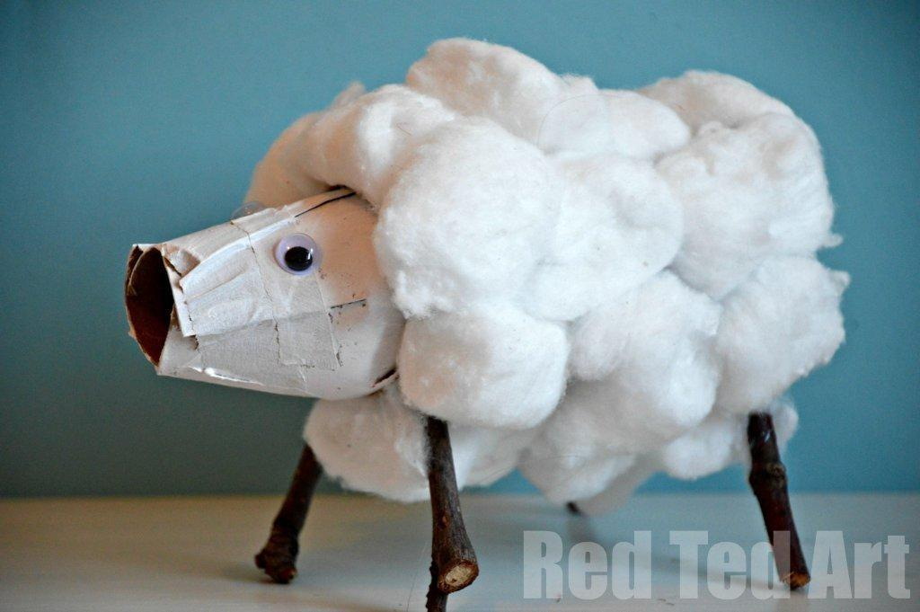 Cute Lamb Sheep Crafts Red Ted Art Blog