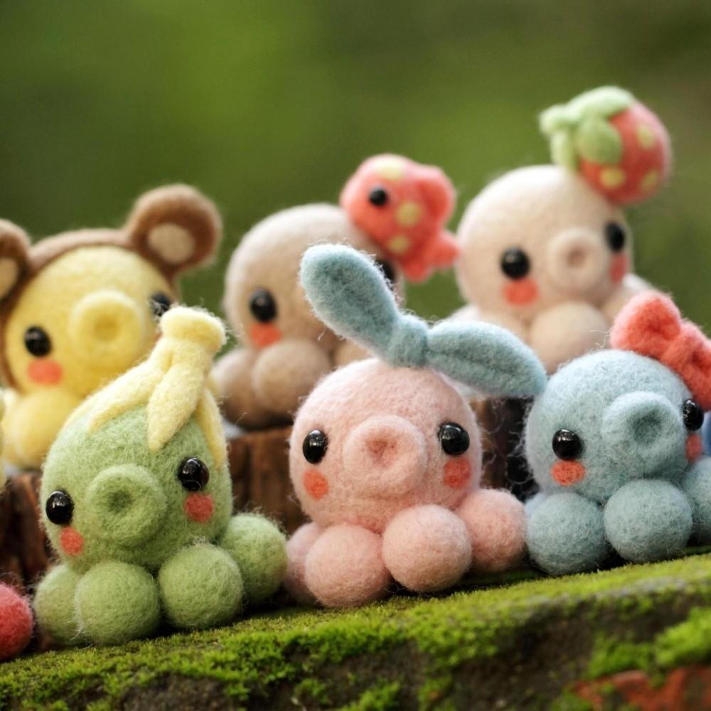 Cute Octopus Toys Lovely Brinquedos Doll Colorful Diy